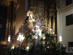 Imagen de Teresa de Jesús venerada en el convento de La Santa